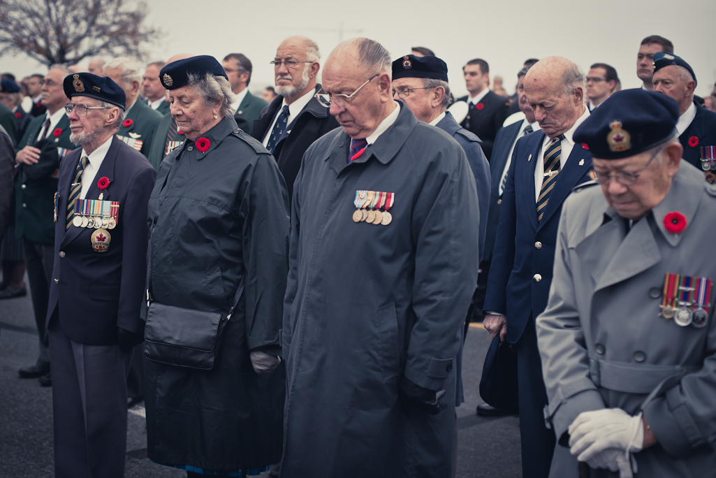 Moment of silence, Remembrance day, Victoria BC